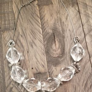 LANE BRYANT Clear Bead Necklace